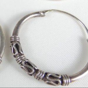STERLING SILVER 925 earrings loop vintage